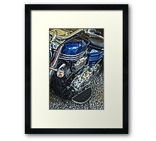 Blue Warrior HDR Framed Print