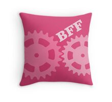 BFF Mechanism (pink) Throw Pillow