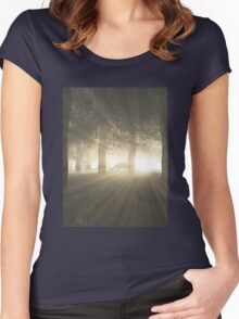 Dragon in a Misty Forest Women's Fitted Scoop T-Shirt