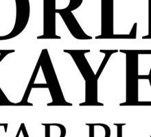 WORLD'S OKAYEST GUITAR PLAYER Sticker