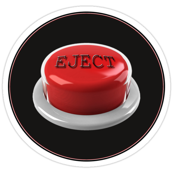 eject button - sticker  by vampvamp