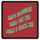 more awesomeness II - sticker by vampvamp