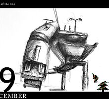 December 9th - The end of the line by 365 Notepads -  School of Faces
