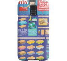 Singapore icecream sandwiches infographic design Samsung Galaxy Case/Skin