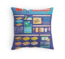 Singapore icecream sandwiches infographic design Throw Pillow