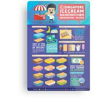 Singapore icecream sandwiches infographic design Metal Print