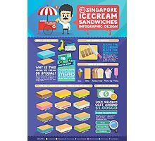 Singapore icecream sandwiches infographic design Photographic Print