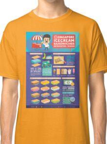 Singapore icecream sandwiches infographic design Classic T-Shirt