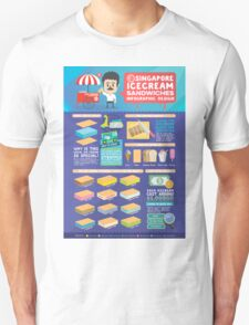 Singapore icecream sandwiches infographic design T-Shirt