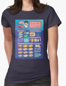 Singapore icecream sandwiches infographic design Womens Fitted T-Shirt