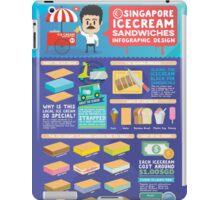 Singapore icecream sandwiches infographic design iPad Case/Skin