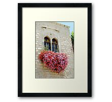 The Heart is a Bloom Framed Print