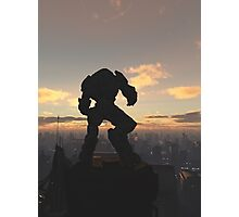 Future City - Robot Sentinel at Sunset Photographic Print
