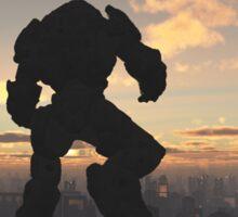 Future City - Robot Sentinel at Sunset Sticker