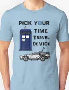 Pick your Time Travel Device! Unisex T-Shirt