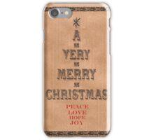 Kraft typography tree iPhone Case/Skin