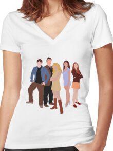 The Original Scoobies Women's Fitted V-Neck T-Shirt