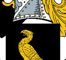 Coat of arms (family crest) for last-name or surname Roper . Heraldry banner for your name. Sticker