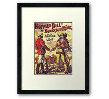 Vintage Buffalo Bill poster Framed Print