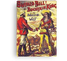 Vintage Buffalo Bill poster Canvas Print