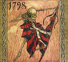 Skeleton Tearing Flag by Vintage Designs