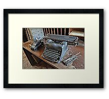 All In A Days Work! Framed Print