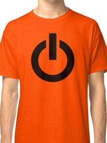 Power Button (black) Classic T-Shirt