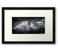 Monochrome - Skyscape Framed Print