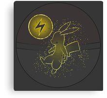 Pokéball Line Art Pikachu Canvas Print