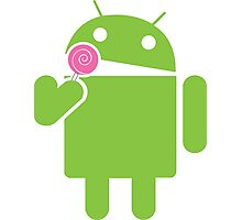 Android eats a lollipop Photographic Print