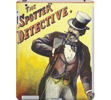 The Spotter Detective vintage Dandy poster iPad Case/Skin