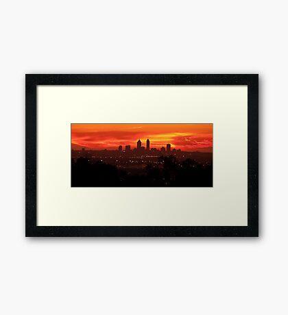 Sunset over Perth  Framed Print