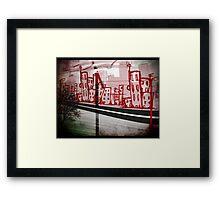 windy slum Framed Print