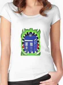 Doctor who Venus fly trap Women's Fitted Scoop T-Shirt