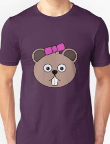 Cartoon Girl Beaver Face Unisex T-Shirt