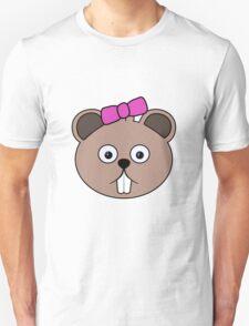 Cartoon Girl Beaver Face Unisex T-Shirt