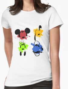Mickey and Friends Splash Womens Fitted T-Shirt
