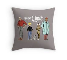 Johnny Jonny Quest Full Team Cartoon Throw Pillow