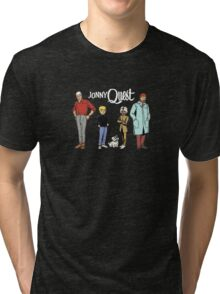 Johnny Jonny Quest Full Team Cartoon Tri-blend T-Shirt