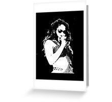 Normani Kordei Fifth Harmony Silhouette Greeting Card