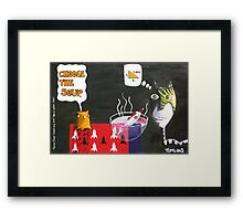 Martian Rocket Spread and That Special Yellow Mask  Framed Print