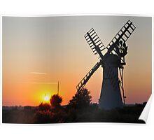 Thurne Sunset Poster