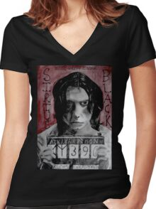 Sirius Black in Azkaban  Women's Fitted V-Neck T-Shirt