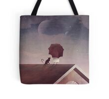 Twin Moon Tote Bag