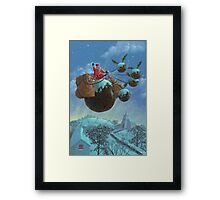 christmas pudding santa ride Framed Print