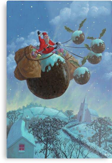 christmas pudding santa ride by martyee