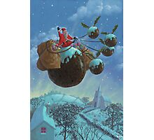 christmas pudding santa ride Photographic Print