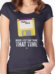 Hackers Movie - Floppy Disk - Cinema Obscura Collection Women's Fitted Scoop T-Shirt