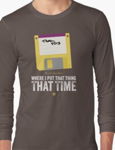 Hackers Movie - Floppy Disk - Cinema Obscura Collection Long Sleeve T-Shirt