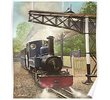 exbury gardens narrow gauge steam locomotive Poster